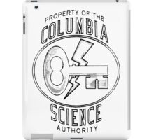 Columbia Science Authority (black) iPad Case/Skin