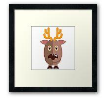 Cute cartoon reindeer Framed Print