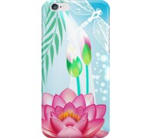 Lotus and Dragonfly iPhone Case/Skin