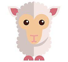 Cute little cartoon sheep Photographic Print