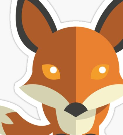 Friendly cartoon fox Sticker