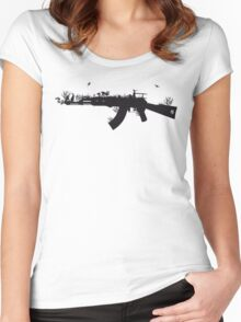 Ak47 Love & Peace Women's Fitted Scoop T-Shirt