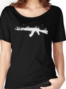 Ak47 Love & Peace (black) Women's Relaxed Fit T-Shirt