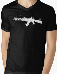 Ak47 Love & Peace (black) Mens V-Neck T-Shirt