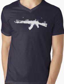 Ak47 Love & Peace (black) Mens V-Neck T-Shirt