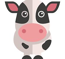 Funny cartoon cow by berlinrob