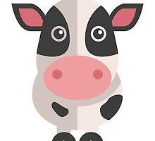 Funny cartoon cow by berlinrob