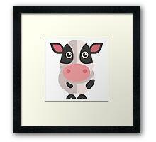 Funny cartoon cow Framed Print