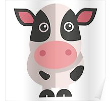 Funny cartoon cow Poster