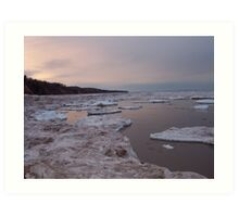 Lake Superior Winter Art Print