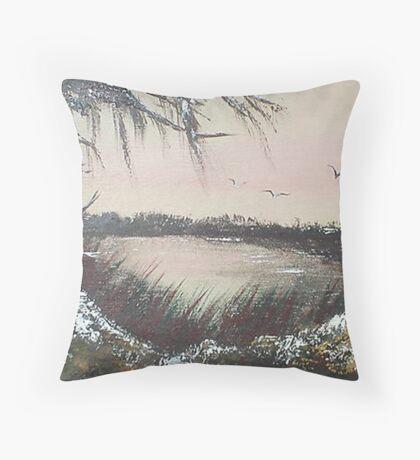 Coastal Inlet Throw Pillow