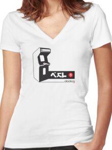 ...Insert Coin Women's Fitted V-Neck T-Shirt