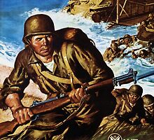 Our Metal is On The Attack - Keep It Coming - World War II Poster by BritishYank