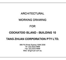 Working Drawing Cover Page by Annie Huang