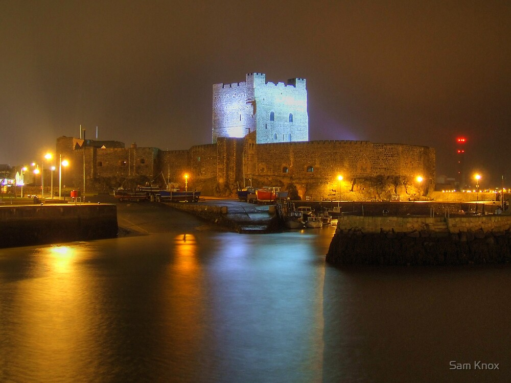 Carrickfergus Castle And Harbour by Sam Knox