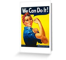 Rosie the Riveter - Recruitment  Poster Greeting Card