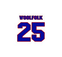 National football player Butch Woolfolk jersey 25 Photographic Print