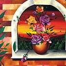 The Rose Painting by AlanZinn