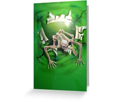 It is NOT greener on the other side.... Greeting Card