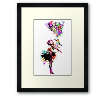 A Bird And The Violinist Framed Print