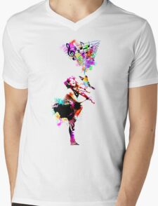 A Bird And The Violinist Mens V-Neck T-Shirt