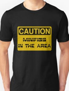 Caution Minifigs in the Area Sign T-Shirt