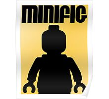 Retro Large Black Minifig Poster