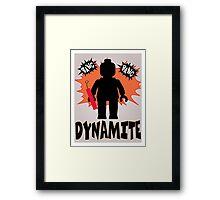 Dynamite Minifigure Framed Print