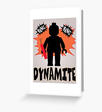 Dynamite Minifigure Greeting Card