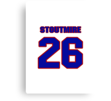National football player Omar Stoutmire jersey 26 Canvas Print