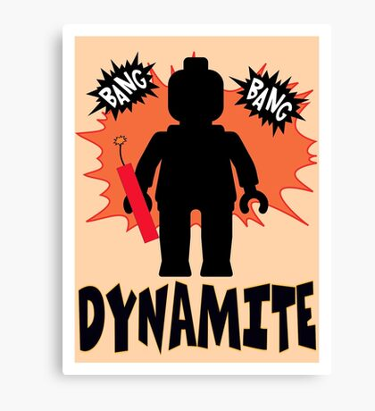 Dynamite Minifigure Canvas Print