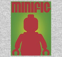Retro Large Black Minifig  Kids Tee