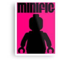 Retro Large Black Minifig  Metal Print