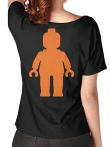 Minifig [Large Orange]  Women's Relaxed Fit T-Shirt