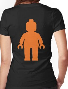 Minifig [Large Orange]  Womens Fitted T-Shirt