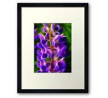 Glowing flower Framed Print