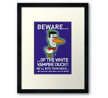 VAMPIRE DUCK! Framed Print