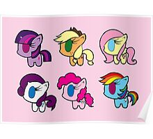 Weeny My Little Pony- Mane Six Poster