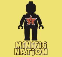 """MINIFIG NATION"" Minifig [Black]  Kids Clothes"