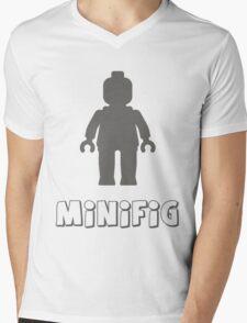 Minifig [Dark Grey]  Mens V-Neck T-Shirt