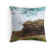 Atlantic Coastline In Brittany, France Throw Pillow