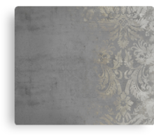 Grunge Damask Canvas Print