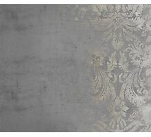 Grunge Damask Photographic Print