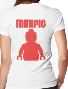 Retro Large Red Minifig Womens Fitted T-Shirt