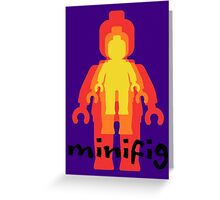 Colored Minifigs Greeting Card