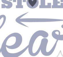 She stole my HEART with arrow left Sticker
