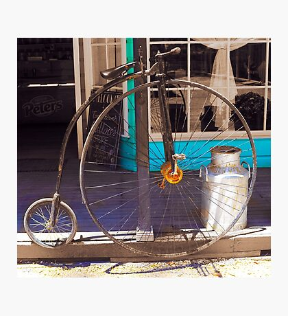 About time - The bicycle Photographic Print
