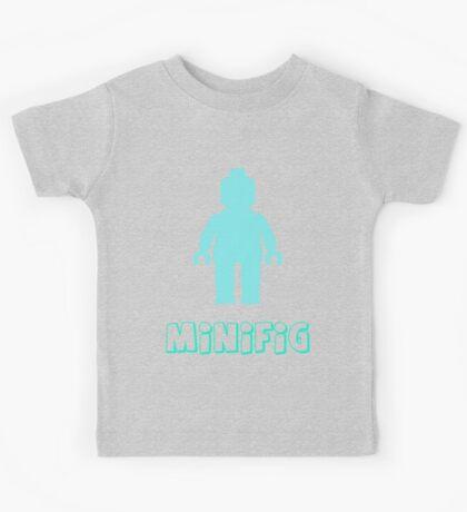 Minifig [Light Blue]  Kids Tee