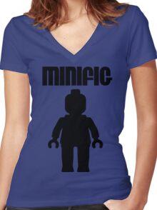 Minifig [Black]  Women's Fitted V-Neck T-Shirt