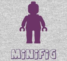 Minifig [Purple] One Piece - Short Sleeve